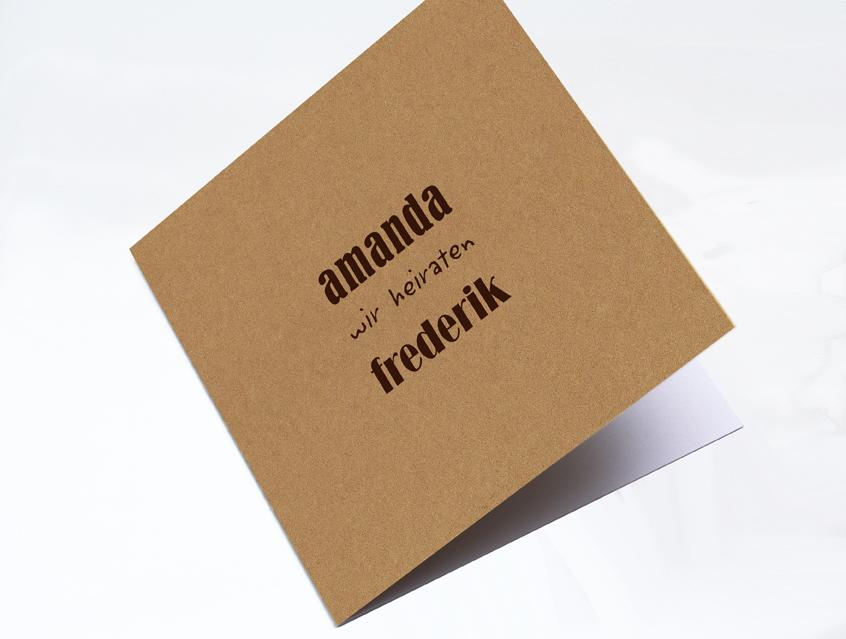 7120   Einladung Hochzeit Hochzeitseinladung Hochzeitskarte Liebe Im  Quadrat Karte Papeterie Hochzeitspapeterie Natur Naturkarton ...
