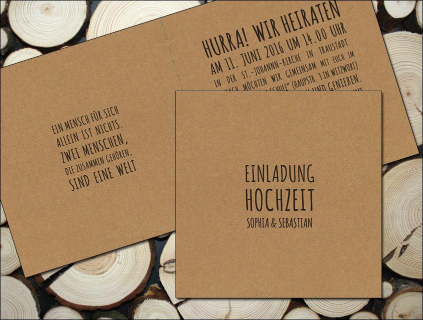 7139   Einladung Hochzeit Hochzeitseinladung Hochzeitskarte Chalkboard  Kreide Tafel Natur Naturkarton Kraftpapier Kraft Karton