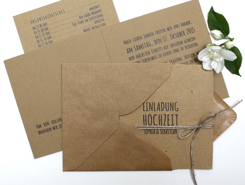 Schön 7139   Einladung Hochzeit Hochzeitseinladung Hochzeitskarte Chalkboard  Kreide Tafel Natur Naturkarton Kraftpapier Kraft Karton