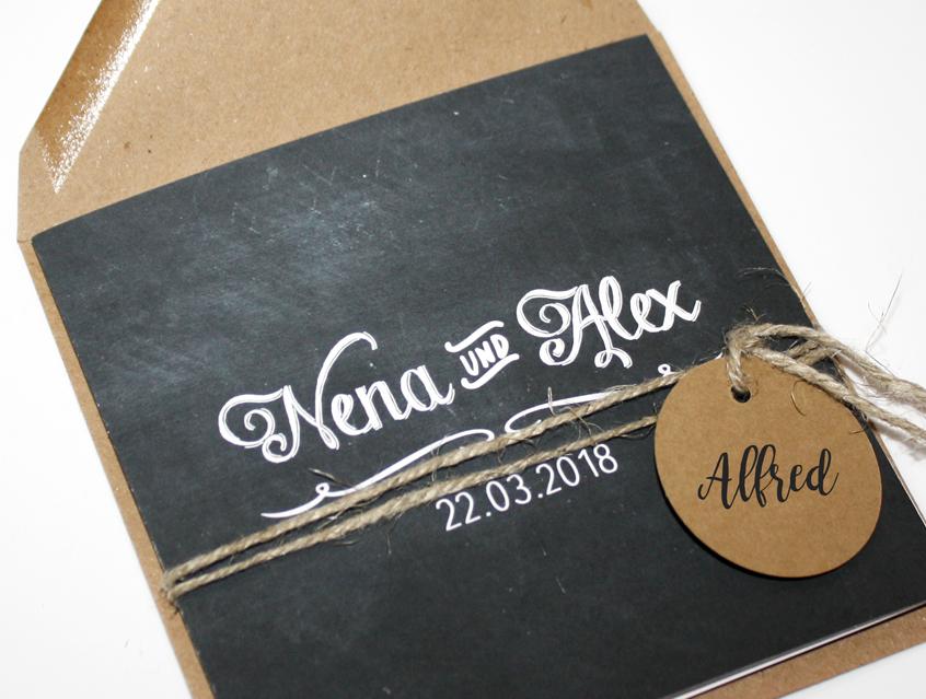 Einladungskarten Hochzeit Hochzeitskarten Vintage Schwarz Tafel
