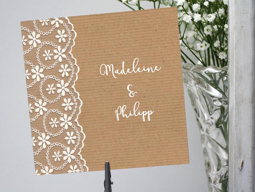 7147   Einladung Hochzeit Hochzeitseinladung Hochzeitskarte Karte Papeterie  Hochzeitspapeterie Weiss Weiß Spitze Lace Lacey ...