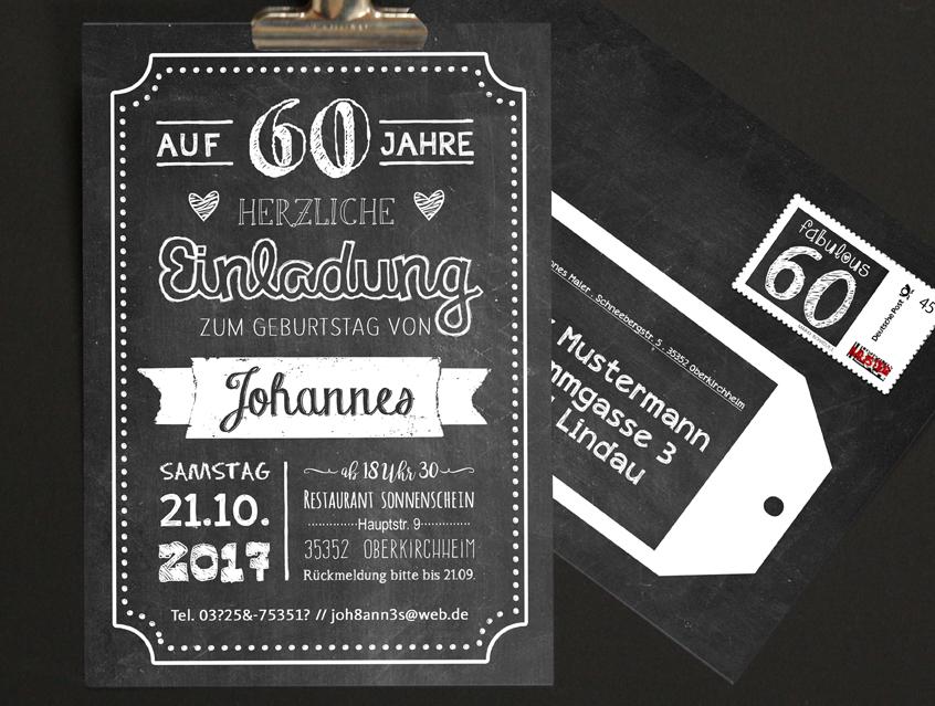 8142   Einladung Geburtstag Geburtstagseinladung A6 Postkarte 20 30 40 50  60 70 80 ...
